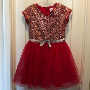 American girl Holiday dress sequined top size 14